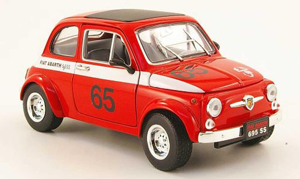 Fiat 500 Abarth 1/18 Mondo Motors 695ss red no.65