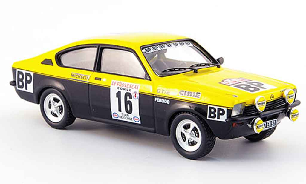 Opel Kadett GT 1/43 Trofeu e no.16 bp  tour de corse 1975