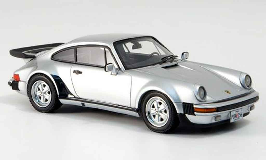 Porsche 930 Turbo 1/43 Neo US Version grise metallisee 1985