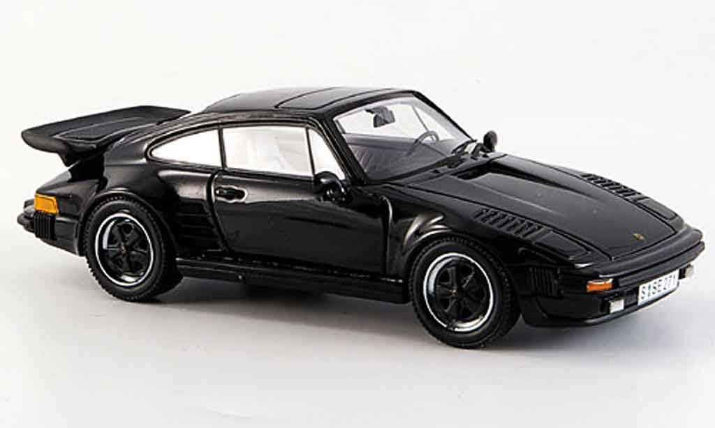 Porsche 930 Turbo 1/43 Neo SE Flatnose noire 1987 miniature