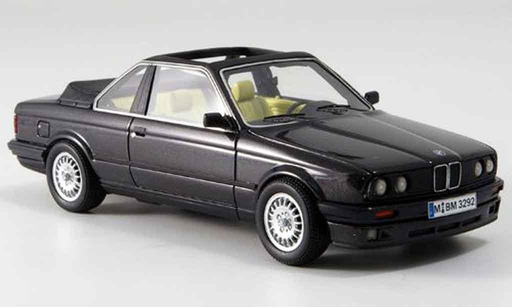 Bmw 320 E30 1/43 Neo i  Baur Cabriolet grise 1986 miniature
