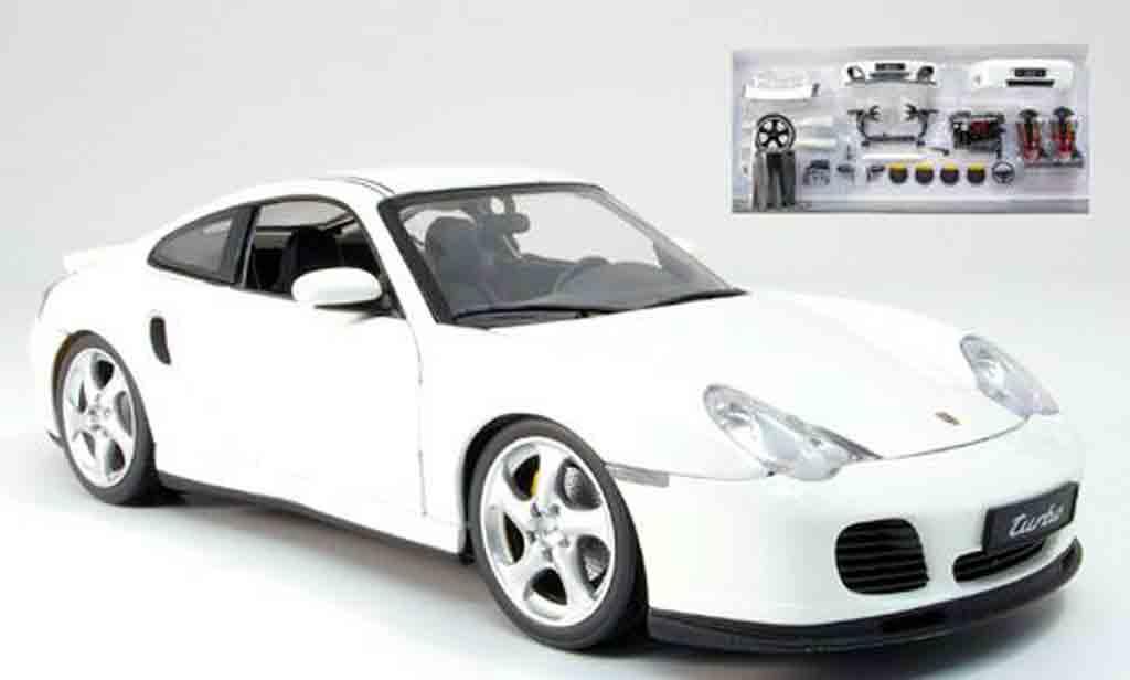 Porsche 996 1/18 AutoProShop gt techart xl blanche mit tunigteilen 2004 miniature