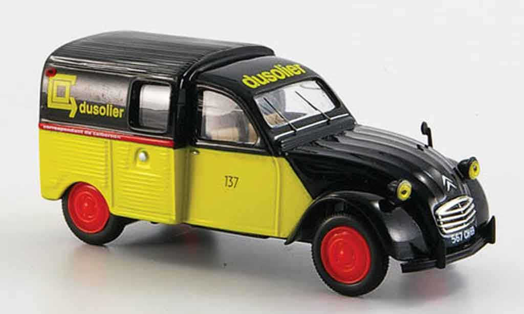 Citroen 2CV 1/43 Norev camionette calberson 1965 miniature