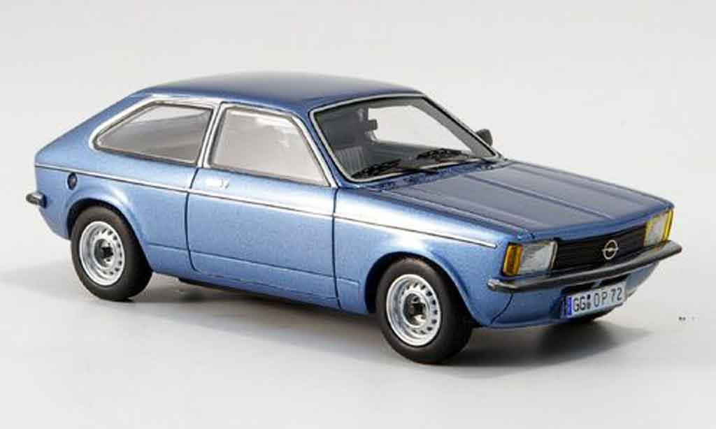 Opel Kadett C 1/43 Neo city bleu 1978 miniature