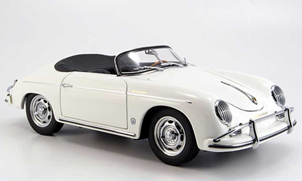 Porsche 356 1/18 Autoart A speedster blanche miniature