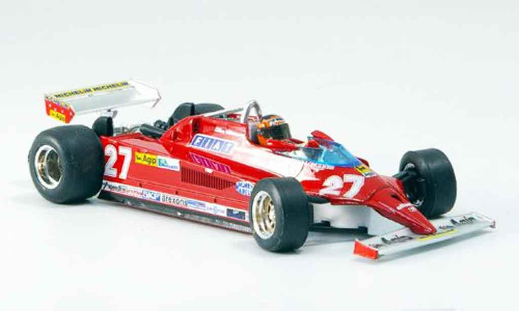 Ferrari 126 1981 1/43 Brumm CK no.27 gilles villeneuve 25 jahre miniatura