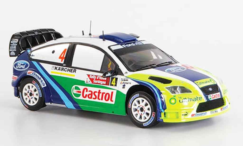 Ford Focus RS WRC 1/43 IXO No.4 BP Hirvonen Lehtinen Zweiter 2006 miniature