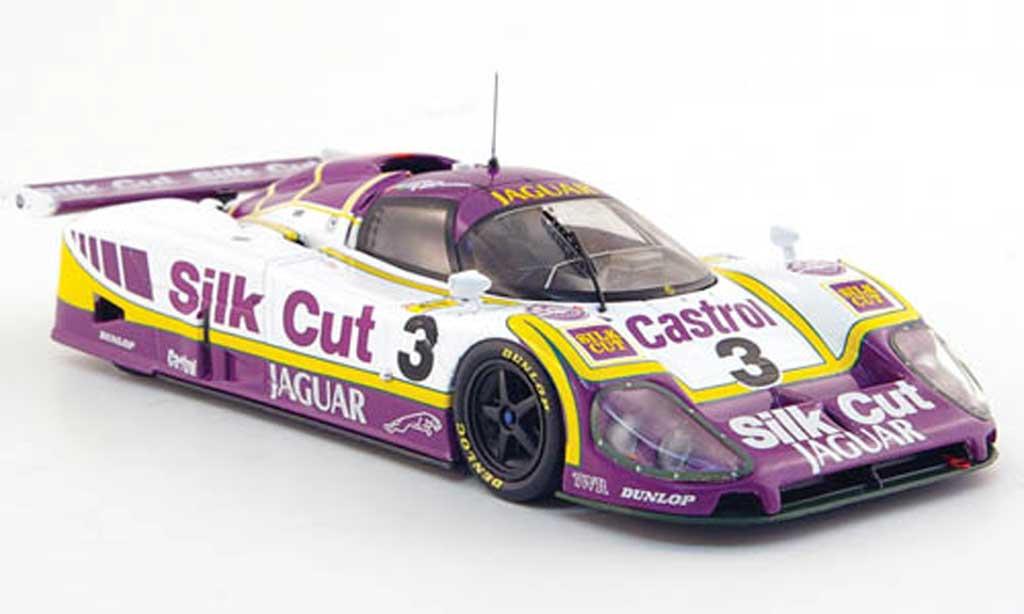 Jaguar XJ R9 1/43 IXO v12 No.3 Silk Cut 24h Le Mans 1988 miniature