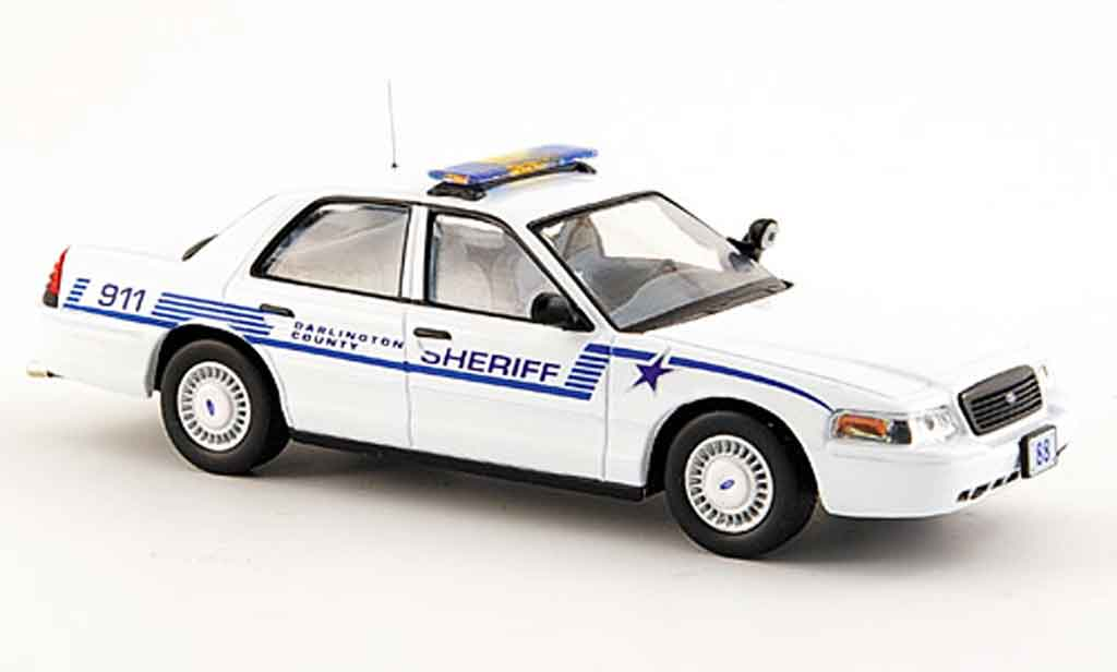 Ford Crown 1/43 IXO policeDarlington County Sheriff miniature