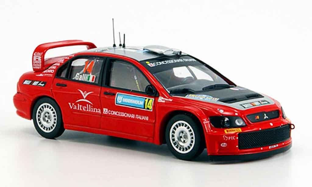 Mitsubishi Lancer Evolution IX 1/43 IXO WRC No. 14 Rallye Schweden 2006 miniature