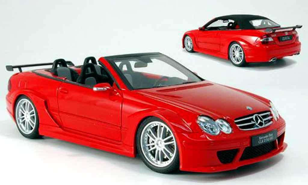 Mercedes clk amg dtm cabriolet miniature rouge kyosho 1 18 voiture
