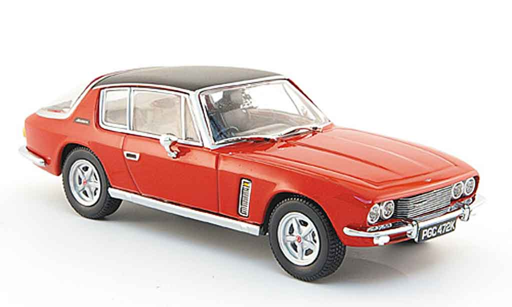 Jensen MK3 1/43 Oxford Interceptor rouge noire miniature