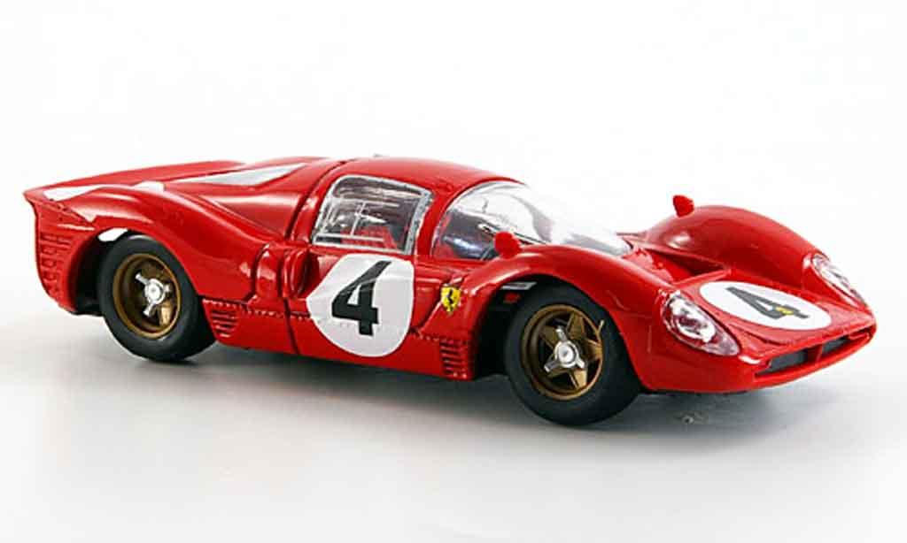 Ferrari 330 P4 1/43 Brumm no.4 1000 km monza r. lodovico 1967 miniatura