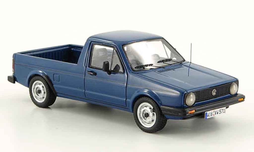 Volkswagen Caddy 1/43 Neo mk 1 bleu miniature