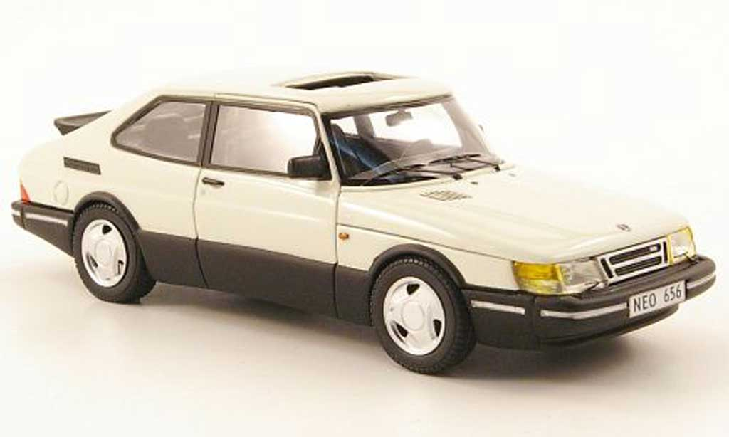 Saab 900 Turbo 1/43 Neo 16S aerien blanche 1992 miniature