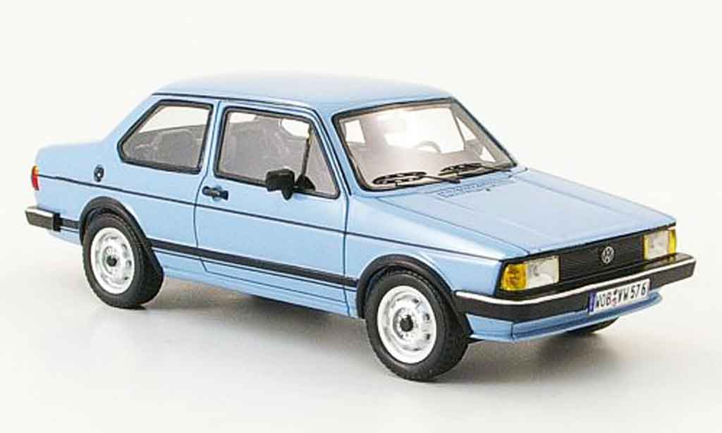 Volkswagen Jetta 1/43 Neo 1 zweiturer bleu miniature