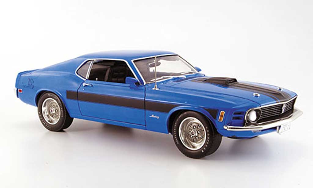 ford mustang 1970 1 18 highway 61 mach 1 bleu online. Black Bedroom Furniture Sets. Home Design Ideas