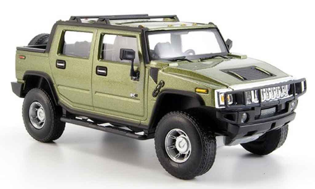 Hummer H2 1/43 Cararama SUT grun diecast model cars