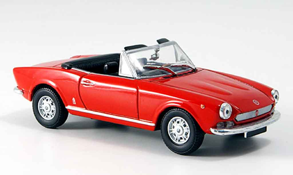 fiat 124 spider red 1966 mcw diecast model car 1 43 buy sell diecast car on. Black Bedroom Furniture Sets. Home Design Ideas