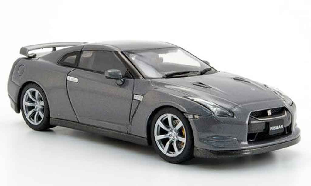 nissan skyline r35 miniature gt r grise 2007 ebbro 1 43. Black Bedroom Furniture Sets. Home Design Ideas