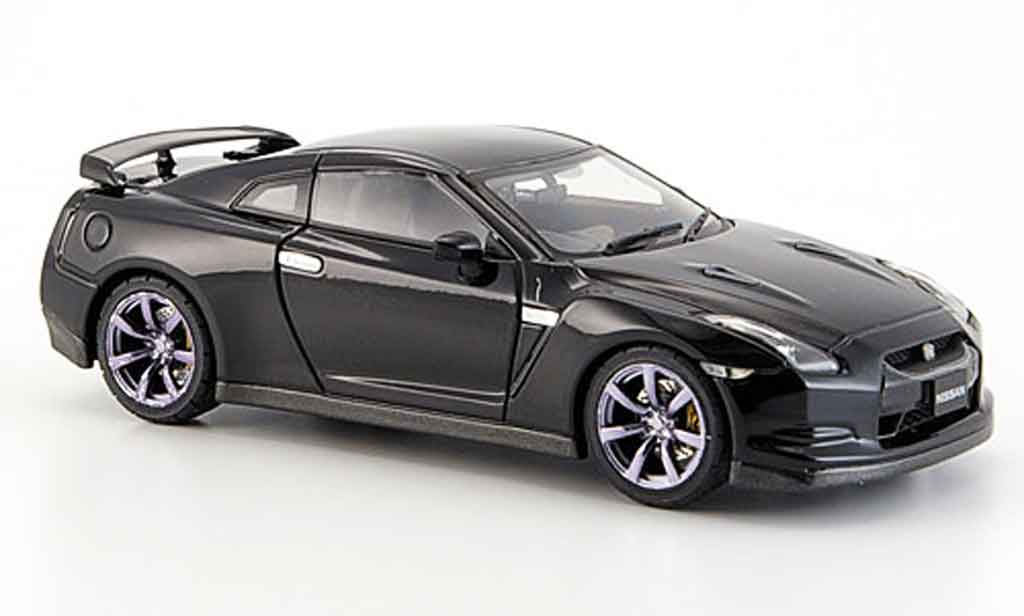 nissan skyline r35 gt r schwarz 2007 ebbro modellauto 1 43. Black Bedroom Furniture Sets. Home Design Ideas