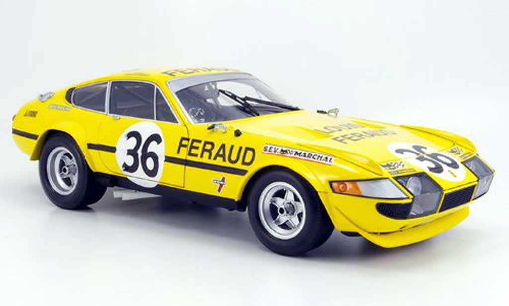 Ferrari 365 GTB/4 1/18 Kyosho no.36 feraud 24h le mans 1972 miniature
