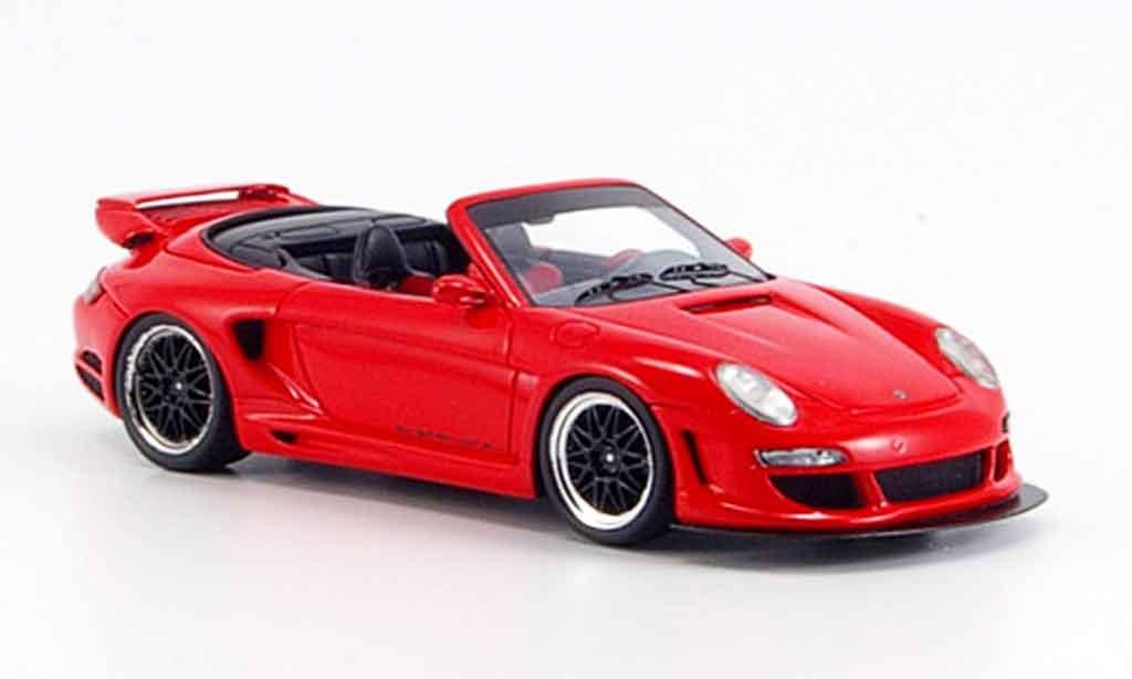 Gemballa GTR 500 1/43 Spark Avalanche rouge Verdeck geoffnet miniature