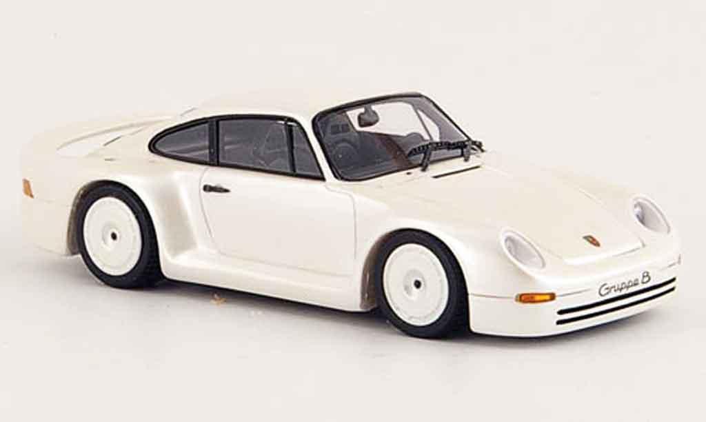 Porsche 959 1/43 Spark Gruppe B white diecast model cars