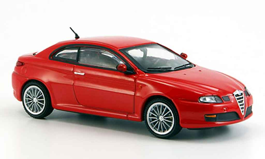 alfa romeo gt 2000 miniature jtds rouge progressive 2007 m4 1 43 voiture. Black Bedroom Furniture Sets. Home Design Ideas