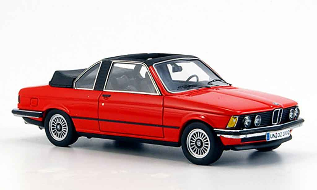 Bmw 323 1/43 Neo (E21) Baur Cabriolet rouge 1979 miniature