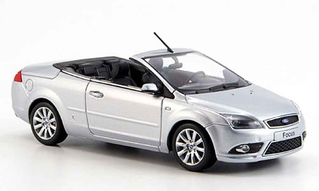 Ford Focus 1/43 Minichamps grise metallisee Cabrio Coupe 2008 miniature