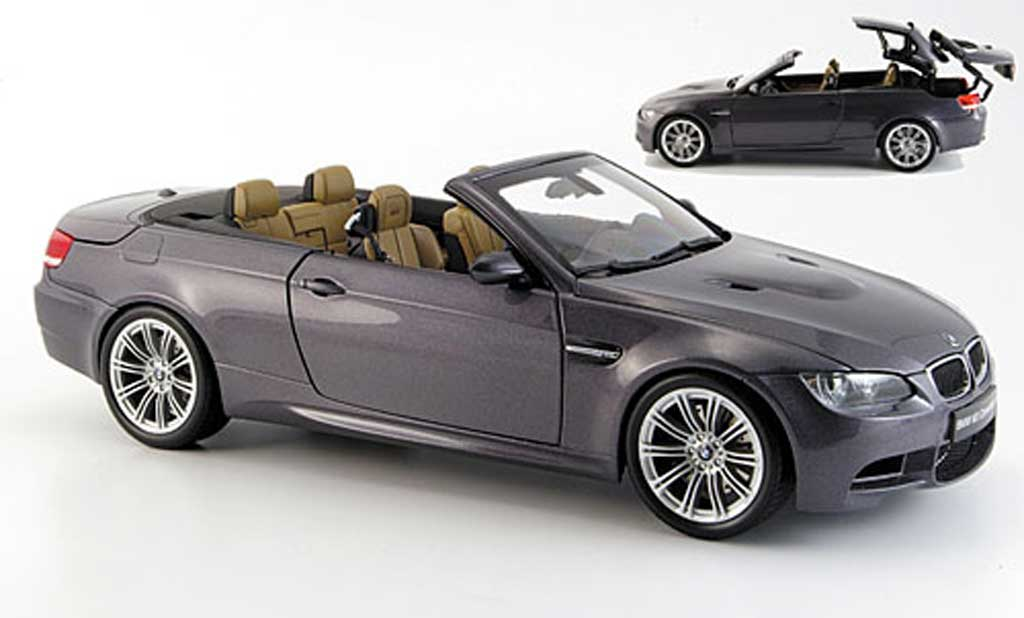 Bmw M3 E93 1/18 Kyosho cabriolet grey 2008 diecast model cars