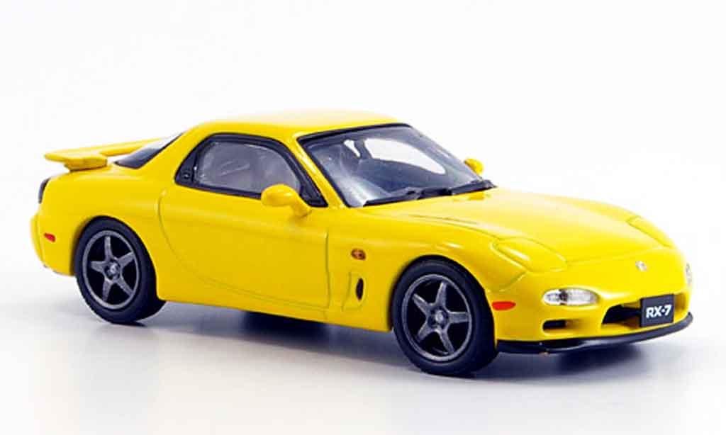 Mazda RX7 1997 1/43 Kyosho R jaune miniature