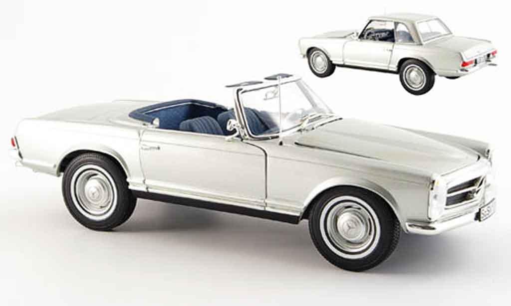 Mercedes 280 1969 1/18 Norev sl (w 113), grau metallized modellautos