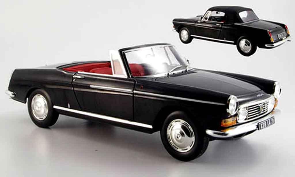 Peugeot 404 Cabriolet 1/18 Norev noire 1967 miniature
