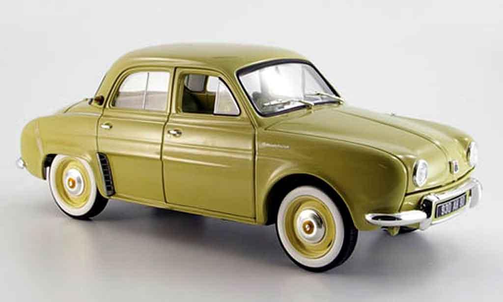 Renault Dauphine 1/18 Norev beige 1958 miniature