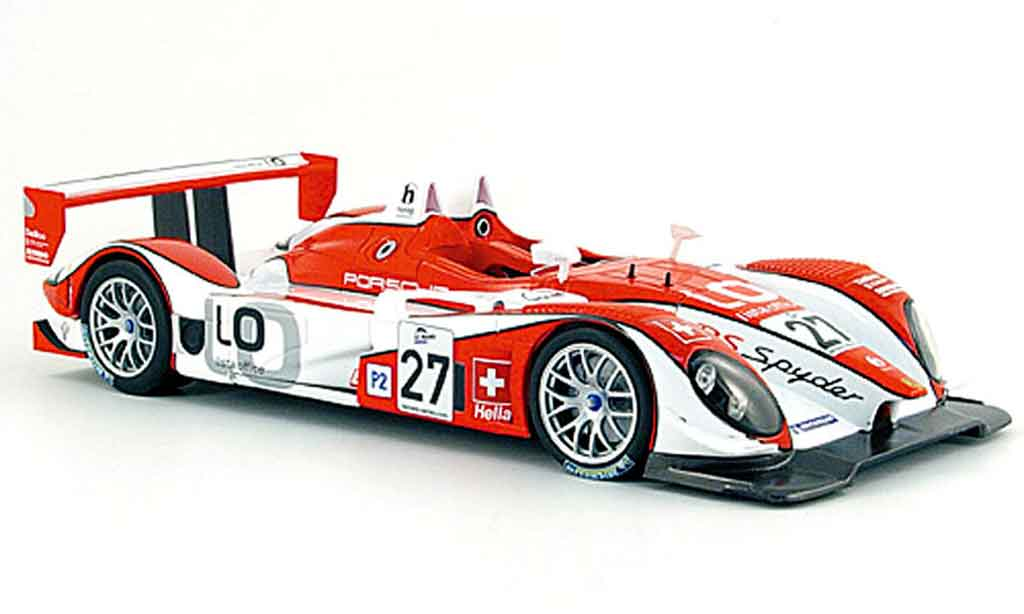 Porsche RS Spyder 1/18 Norev no.27 team horag 24h le mans 2008 diecast model cars