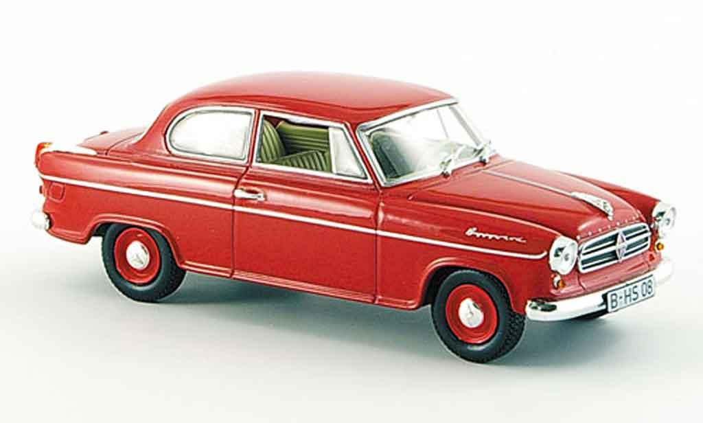Borgward Isabella 1/43 Norev Limousine rouge 1960
