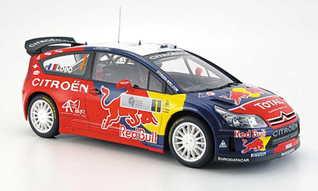 Citroen C4 WRC 1/18 Autoart loeb/ elena no.1 sieger rallye argentin. 2008 miniature