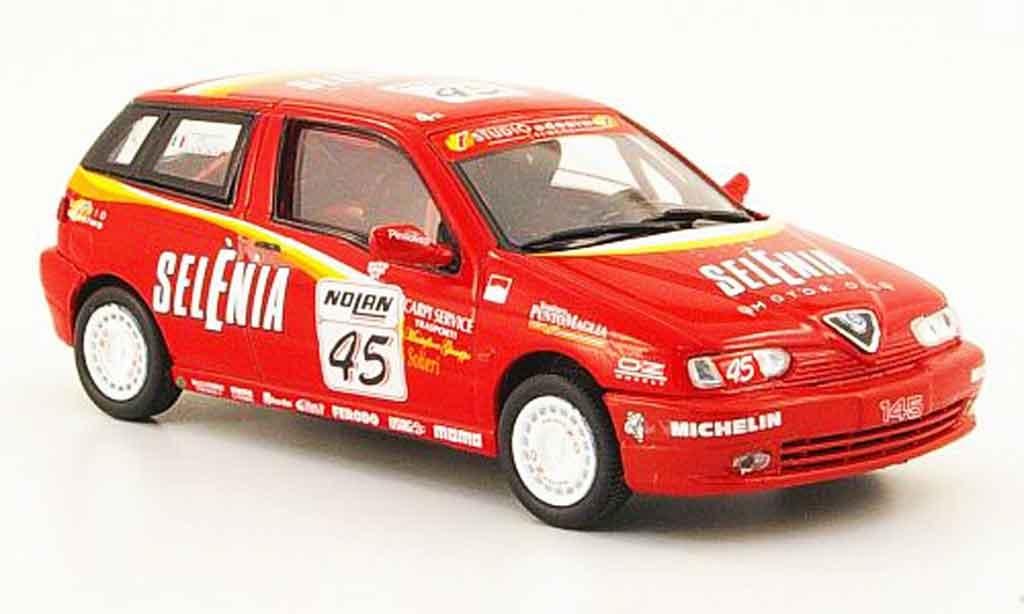 Alfa Romeo 145 1/43 Pego no.45 selenia medici c.i.v.t. racing miniature