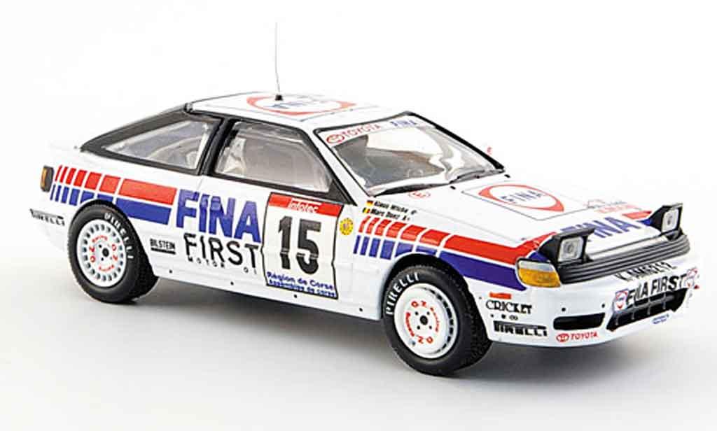 Toyota Celica GT4 1/43 IXO no.15 duez wicha korsika rallye 1991 miniature