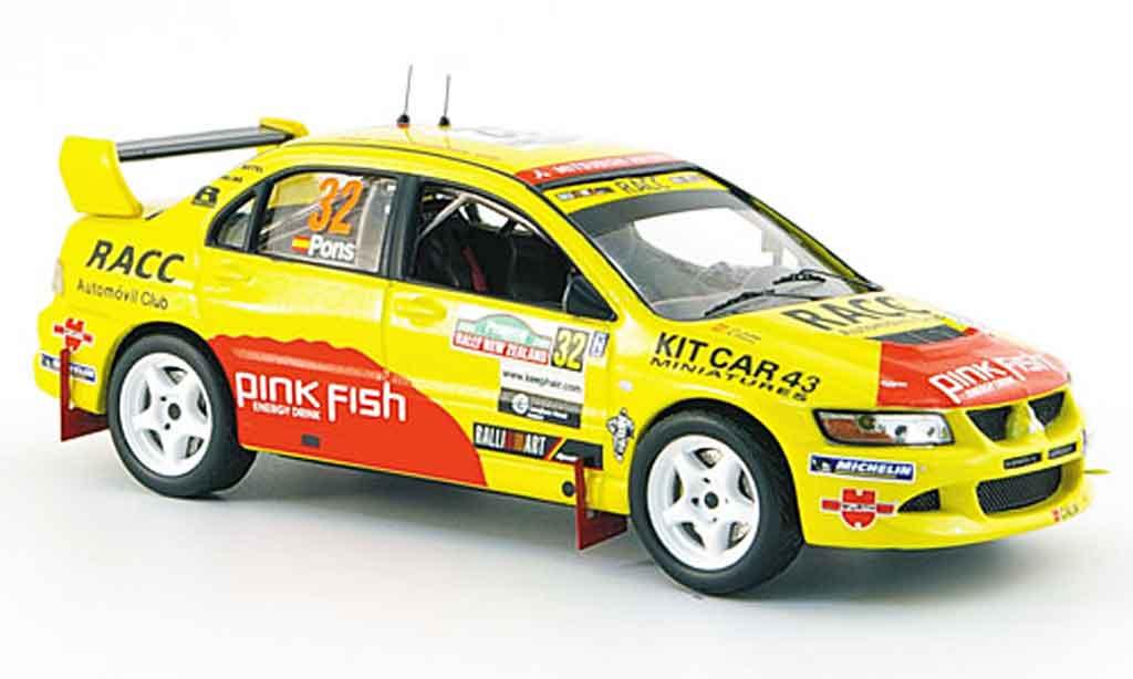 Mitsubishi Lancer Evolution VIII 1/43 IXO No.32 Rallye Neu Seeland 2005 miniature
