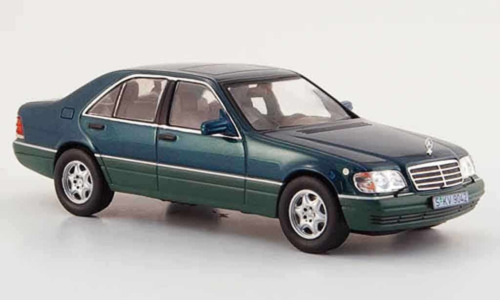 mercedes classe s miniature s 500 w 140 verte 1994 ixo 1 43 voiture. Black Bedroom Furniture Sets. Home Design Ideas