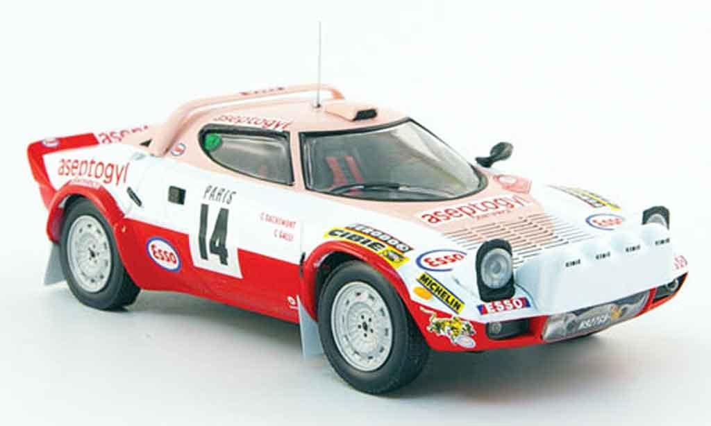 Lancia Stratos Rallye 1/43 IXO hf no.14 aseptogyl rallye monte carlo 1977 miniature