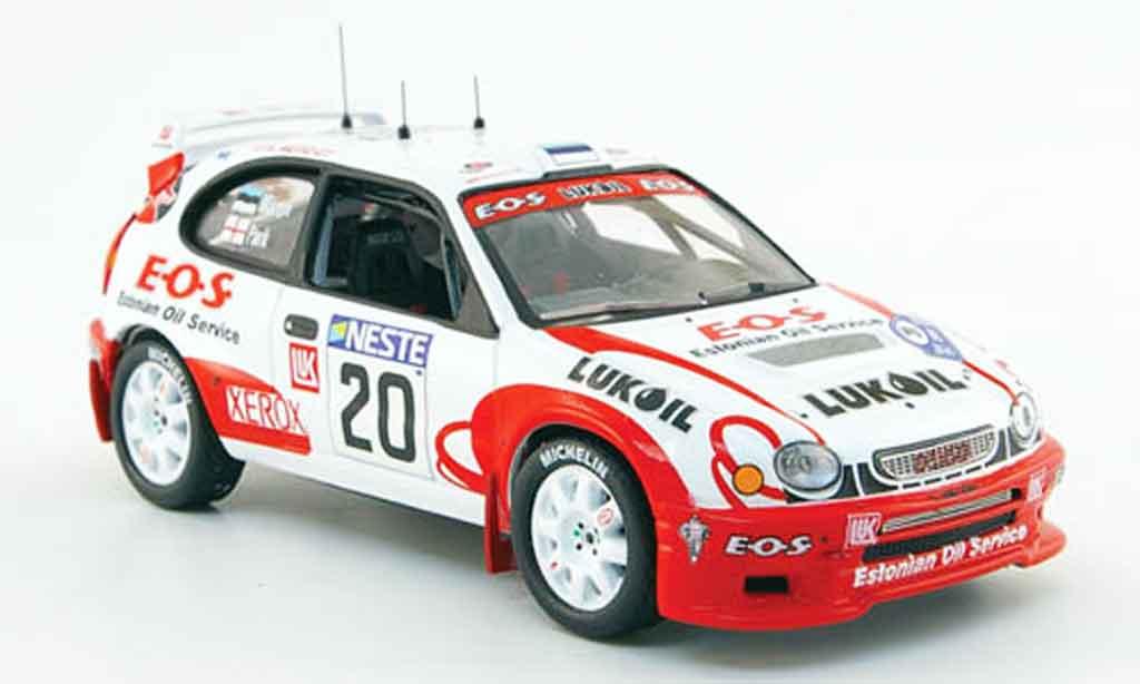 Toyota Corolla 1/43 IXO wrc no.20 lukoil e.o.s. rallye finland 2000 miniature