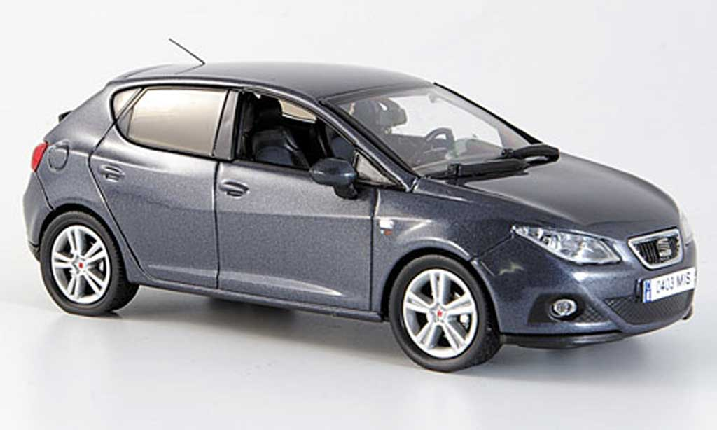 seat ibiza miniature noire gris 5 portes 2008 j collection 1 43 voiture. Black Bedroom Furniture Sets. Home Design Ideas