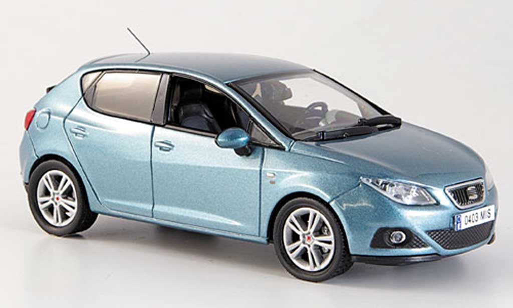 seat ibiza miniature bleu 5 portes 2008 j collection 1 43 voiture. Black Bedroom Furniture Sets. Home Design Ideas