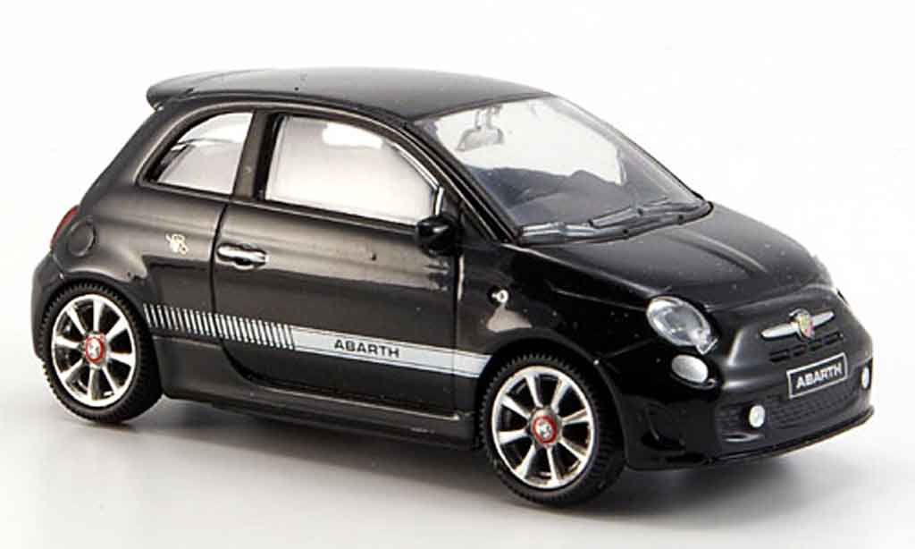 Fiat 500 1/43 Mondo Motors New Abarthnoire 2007 miniature