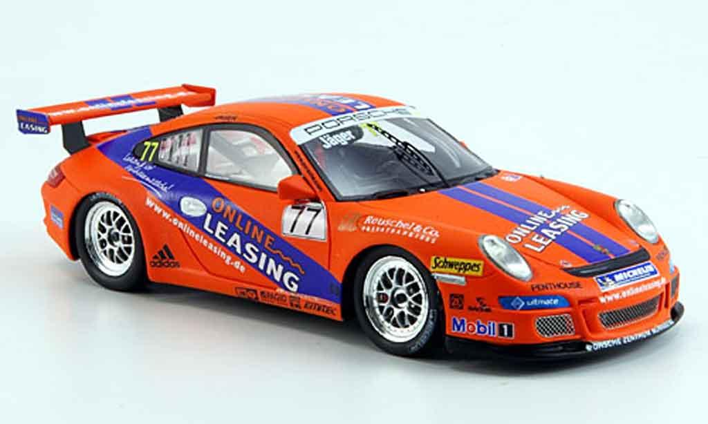 Porsche 997 GT3 Cup 2008 1/43 Spark No.77 Online Leasing Carrera Cup miniature