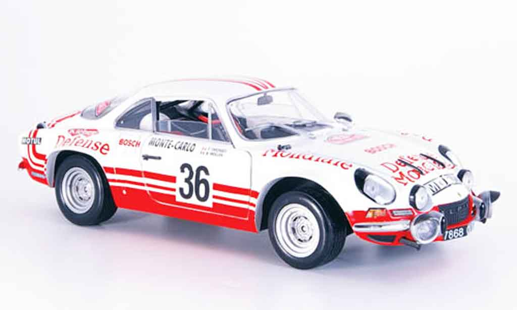 Alpine A110 1/18 Solido no.36 rallye monte carlo 1973 diecast model cars